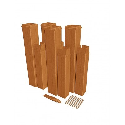 Pergola Post Extension Kit - Cedar Composite - 4 Pack  by Frontera Furniture Company