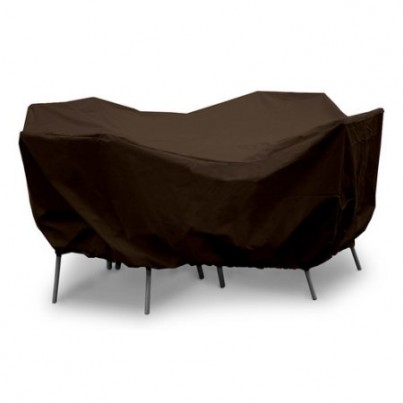 """Protective Weathermax™ 36"""" Round Table Dining Set Cover - Chocolate  by Koveroos"""