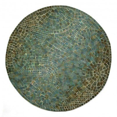 Trans-Ocean Visions V Arch Tile Lapis Rug 8' Round  by TransOcean