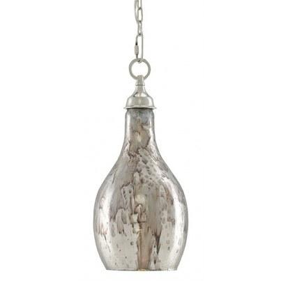 Currey & Company Venosa Glass/Aluminum Pendant  by Currey & Company