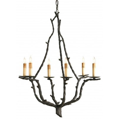 Currey & Company Soothsayer Iron Chandelier  by Currey & Company