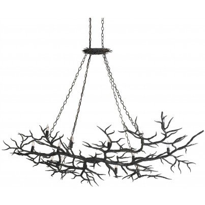Currey & Company Rainforest Iron Chandelier  by Currey & Company