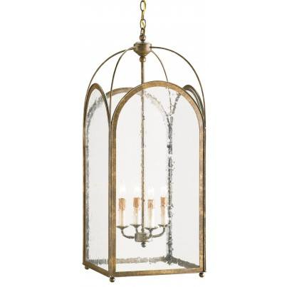 Currey & Company Loggia Iron/Glass Chandelier  by Currey & Company