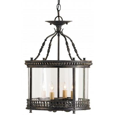 Currey & Company Grayson Wrought Iron Ceiling Chandelier  by Currey & Company