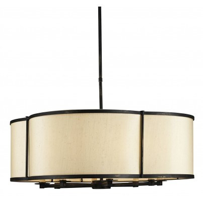 Currey & Company Linlet Iron Pendant Light Chandelier  by Currey & Company