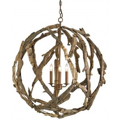 Currey & Company Driftwood Orb Chandelier  by Currey & Company
