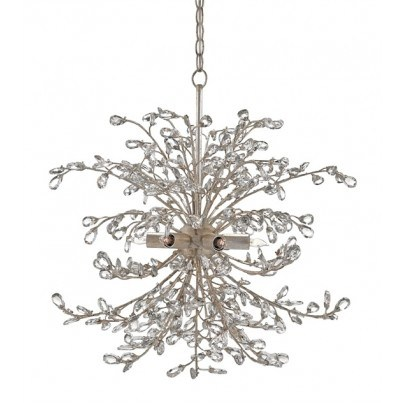 Currey & Company Tiara Wrought Iron/Crystal Chandelier  by Currey & Company