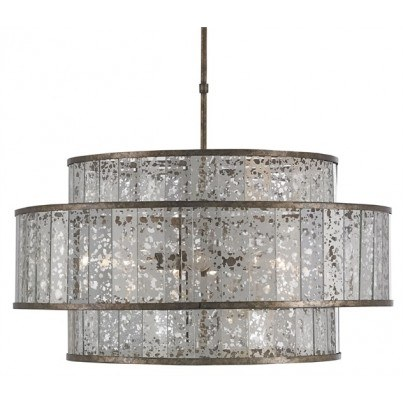 Currey & Company Fantine Wrought Iron/Glass Chandelier  by Currey & Company