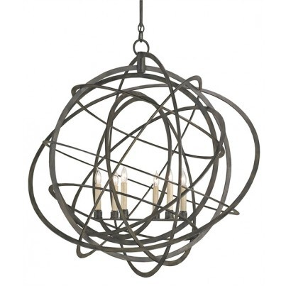 Currey & Company Genesis Wrought Iron Chandelier  by Currey & Company