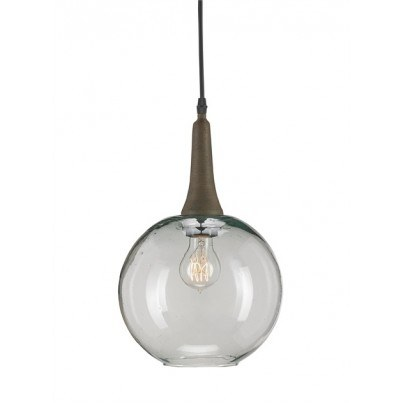 Currey & Company Beckett Wrought Iron/Recycled Glass Pendant  by Currey & Company