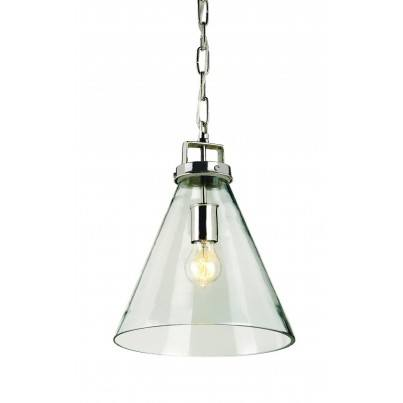 Currey & Company Vitrine Brass/Glass Pendant  by Currey & Company