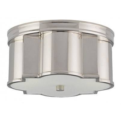 Currey & Company Wicklow Brass/Glass Flush Mount  by Currey & Company