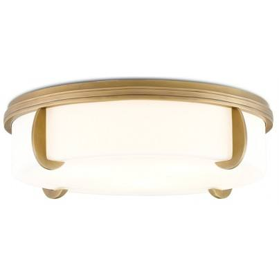 Currey & Company The Compeer Brass/Metal/Glass Flush Mount  by Currey & Company