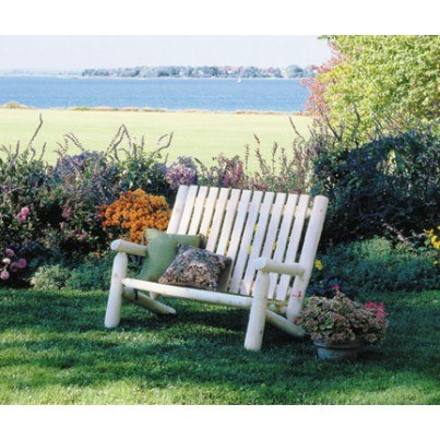 Rustic Natural Cedar High Back Settee  by Rustic Natural Cedar