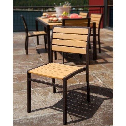 POLYWOOD® Euro Dining Side Chair  by Polywood