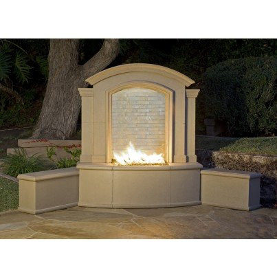 Large Firefall with Finished Back  by CGProducts