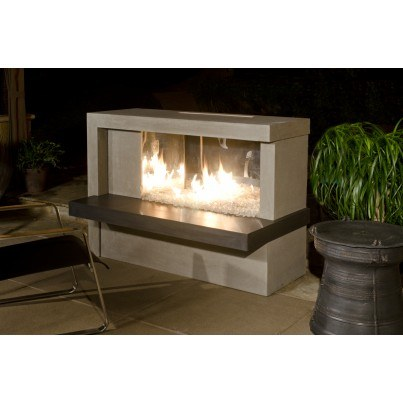 Manhattan Fireplace with Stainless Steel Firebox  by CGProducts