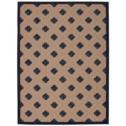 Nourison Indoor/Outdoor Aloha Rug ALH02 - Navy 2'x4'  by Nourison