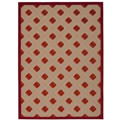 Nourison Indoor/Outdoor Aloha Rug ALH02 - Red 2'8