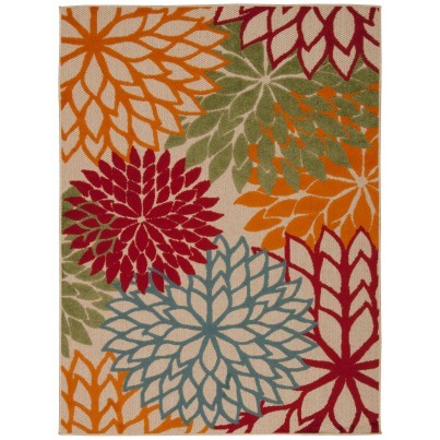 Nourison Indoor/Outdoor Aloha ALH05 Rug - Green 9x13  by Nourison
