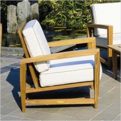 Kingsley Bate Amalfi Teak Deep Seating Lounge Chair  by Kingsley Bate