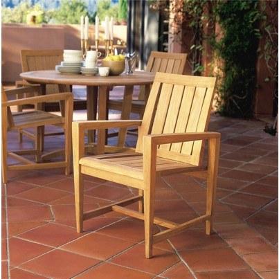 Kingsley Bate Amalfi Teak Dining Armchair  by Kingsley Bate