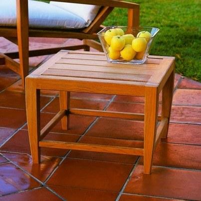 "Kingsley Bate Amalfi Teak 21.5"" Square Side Table  by Kingsley Bate"
