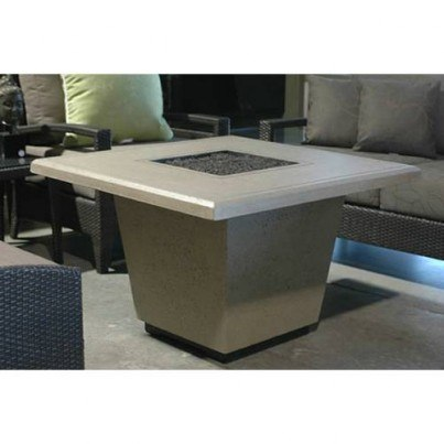 Cosmopolitan Square Fire Pit Table (Textured Finish or Reclaimed Wood)  by CGProducts