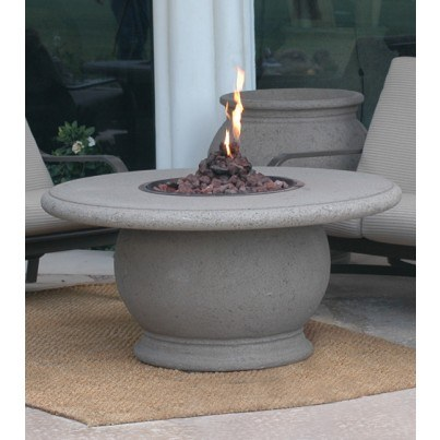 Amphora Round Fire Pit Table with Concrete Top  by CGProducts