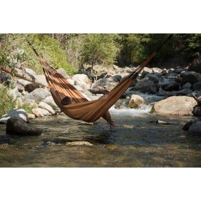 La Siesta Aventura Weather-resistant Double Hammock - Canyon Brown  by La Siesta