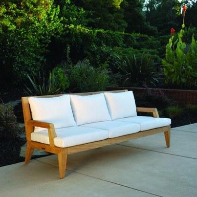 Kingsley Bate Mendocino Teak Deep Seating Sofa  by Kingsley Bate