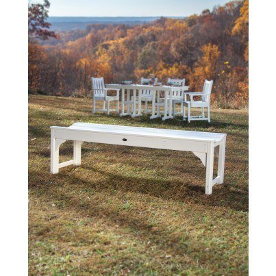 """POLYWOOD® Traditional Garden 60"""" Backless Bench  by Polywood"""