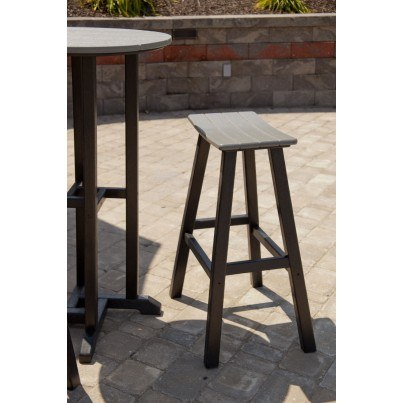 "POLYWOOD® Contempo 30"" Saddle Barstool  by Polywood"