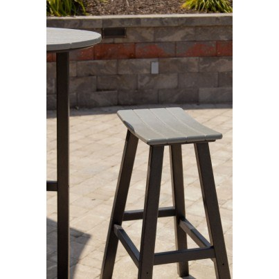 "POLYWOOD® Contempo 24"" Saddle Barstool  by Polywood"