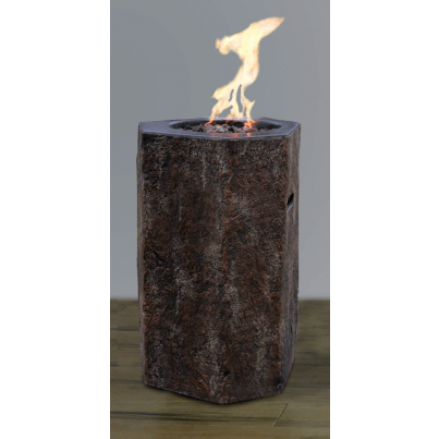 Cast Concrete Basalt Fire Column   by Frontera Furniture Company