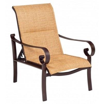 Woodard Belden Aluminum Padded Sling Adjustable Lounge Chair  by Woodard
