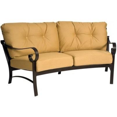 Woodard Belden Aluminum Crescent Sofa  by Woodard