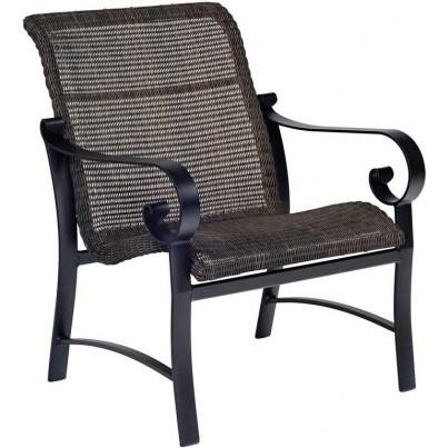Woodard Belden Aluminum Sling Round Weave Lounge Chair  by Woodard