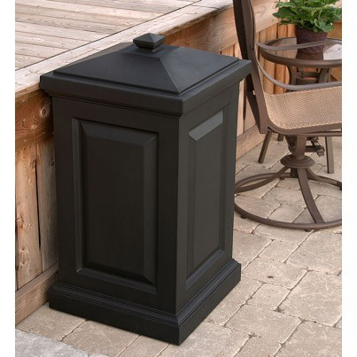 Mayne Berkshire 45 Gallon Storage Bin - Black,White  by Mayne