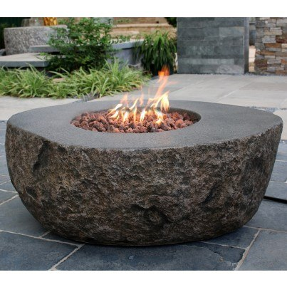 Boulder Fire Pit   by Frontera Furniture Company