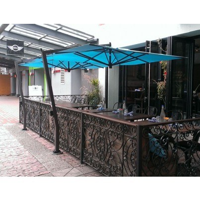 9.5' Square Cantilever Umbrella  by FIM Umbrellas