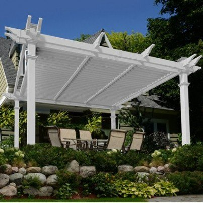 Camelot 12'  Louvered Pergola  by Frontera Furniture Company