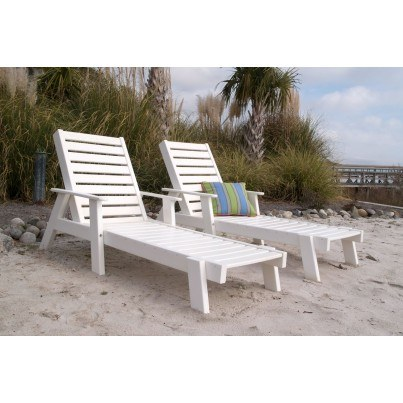 POLYWOOD® Captain Chaise Lounge w/ Arms  by Polywood