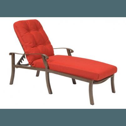 Woodard Cortland Aluminum Adjustable Chaise Lounge  by Woodard