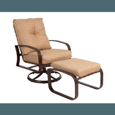 Woodard Cayman Isle Aluminum Swivel Rocking Lounge Chair  by Woodard