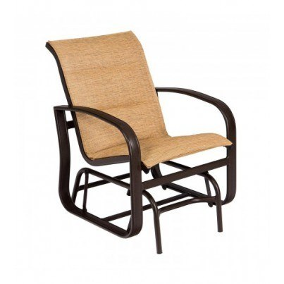 Woodard Cayman Isle Aluminum Padded Sling Gliding Chair  by Woodard