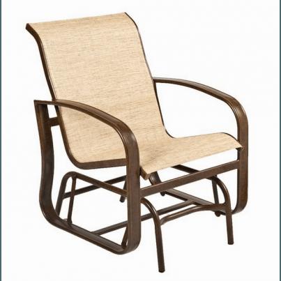 Woodard Cayman Isle Aluminum Sling Gliding Chair  by Woodard