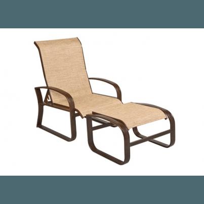 Woodard Cayman Isle Aluminum Sling Adjustable Lounge Chair  by Woodard