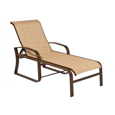 Woodard Cayman Isle Aluminum Sling Adjustable Chaise Lounge  by Woodard