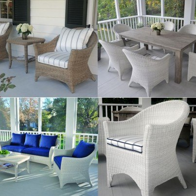 Kingsley Bate Cape Cod Wicker Seating and Dining Collection - Build Your Own Ensemble  by Kingsley Bate